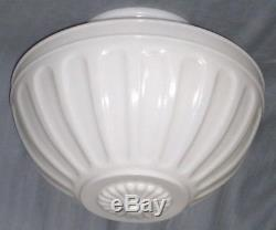 12 Wide Art Deco Nouveau Victorian Milk Glass Light Globe with 6 Inch Opening