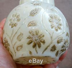 1880's Antique FINDLAY ONYX Victorian Glass ART NOUVEAU Spooner OPALESCENT VASE