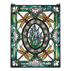 25 Victorian Style Dragonfly Cabochons Hand Crafted Stained Glass Window Panel