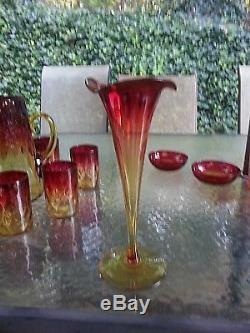 AMBERINA LOT FROM MOUNT WASHINGTON / NEW ENGLAND/BOHEMIAN + Free Bonus Glass