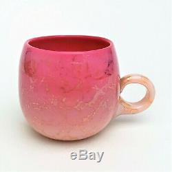 Agata Peach Blow Cup by New England Glass Co Victorian Period RARE