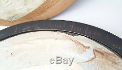 Antique 19th Century French Mourning Sentimental Large Hair Art Oval Wood Framed