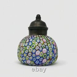 Antique 19th Century Murano Art Glass Millefiori Syrup Pitcher