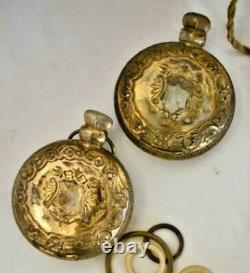 Antique Art NOUVEAU Victorian PERFUME Gold Gilt Glass Perfume Bottles France