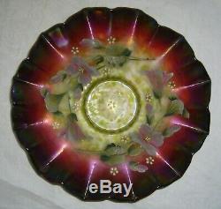 Antique Aurora Pearls Enameled Morning Glory Rubina Rindskopf Brides Bowl