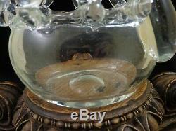 Antique Bohemian Czech Rodolt Schwedler Harrach Art Glass Swan Flower Frog Vase