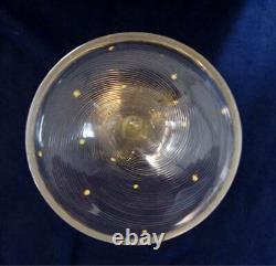 Antique Crystal and Gold Goblet Set of 8 goblets
