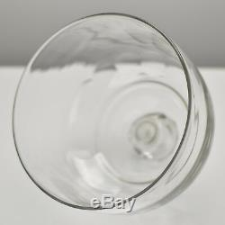 Antique French Cut Clear Crystal Cheese Dome / Bell / Cloche by Baccarat c. 1880