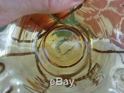 Antique French Victorian Art Glass Bowl Ormolu Pocket Watch Holder Boudoir Stand
