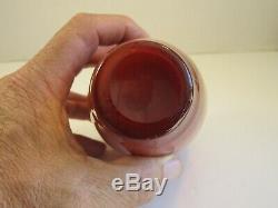 Antique Hobbs Morgan Coral Peach Blow Art Glass Vase