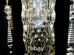 Antique Luster American Brilliant Cut Glass Mantel Luster 12 3/4 H