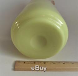 Antique MT WASHINGTON Glossy 9 BURMESE PITCHER TANKARD Victorian Art Glass 1890
