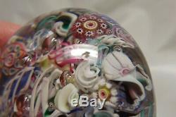 Antique New England Glass Co. / Sandwich Millefiori Scramble Paperweight C. 1860