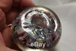 Antique New England Glass Co. /Sandwich Millefiori Scramble Paperweight C. 1860 #2