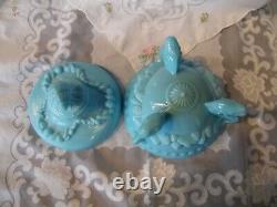 Antique Portieux Vallerysthal Argonaut Dolphin Feet Lidded Candy Dish