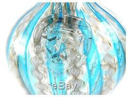 Antique Salviati Murano Latticino Zanfirico Aventurine glass ewer jug