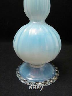 Antique Venetian Salviati Opalescent Glass Vase Italian Murano Victorian Era