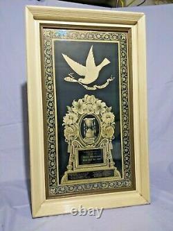Antique Victorian 1897 Death Remembrance Mourning Memorial Framed Art
