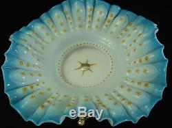 Antique Victorian Art Glass Brides basket Bowl/Stand/center-piece silver-plated