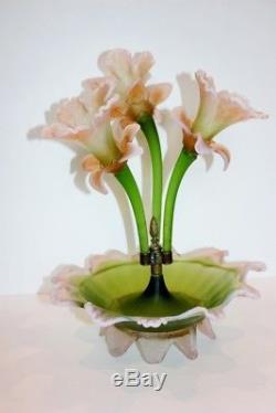 Antique Victorian Art Glass Epergne