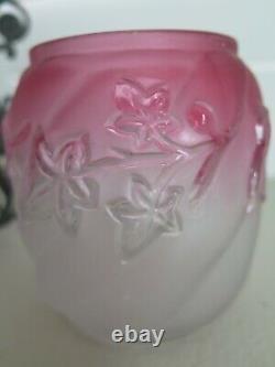 Antique Victorian Barbour Bros. Co Rubina Art Glass Pickle Castor