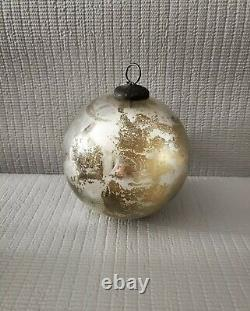 Antique Victorian Large Mercury Glass Silver True Witch Ball