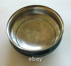 Antique Victorian Satin Glass Quilted Cracker Biscuit Jar