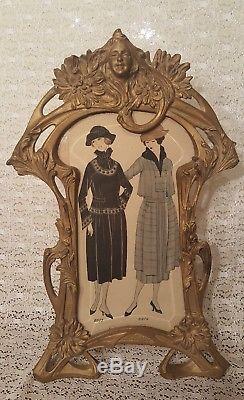Antique Victorian Style Art Nouveau Beveled Glass Picture Frame