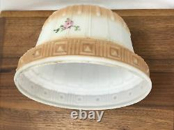 Antique Vtg Victorian Art Deco Glass Lamp Shade Bridge Pendant Globe 2 1/8 1/4
