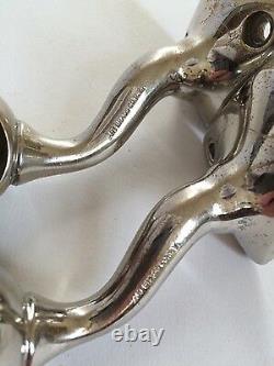 Antique glass towel bar rod rack holder art brass co art deco vtg victorian