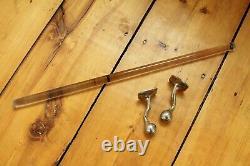 Antique glass towel bar rod rack holder art brass co deco vtg victorian towel