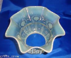 Art Nouveau VASELINE GLASS / URANIUM GLASS Lampshade Lamp Shade POWELL 1890-1900