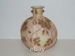 Beautiful Antique Victorian Enameled/jewels Mt Washington/ Crown Milano Vase