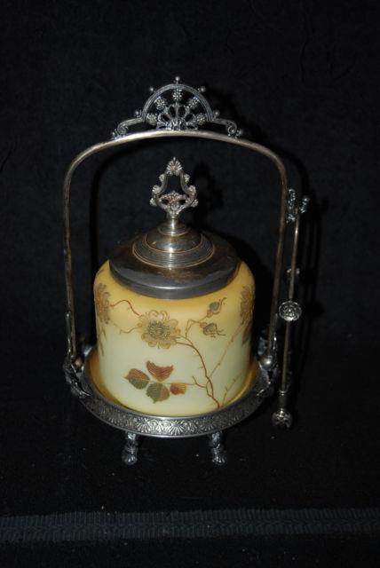 Beautiful Victorian Mt Washington Crown Milano Pickle Castor Tufts Silver 1880's