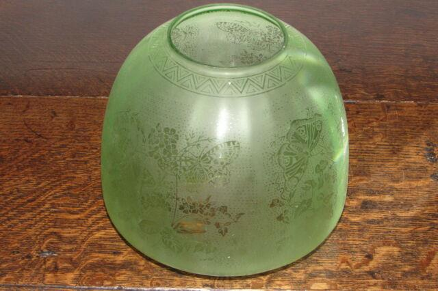 Beautiful Antique Arts & Crafts Art Nouveau Glass Bee Hive Large Oil Lamp Shade