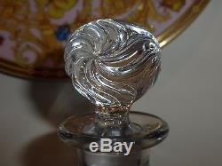 Breathtaking Baccarat Old Victorian Swirl Cut Glass Vanity Bottles