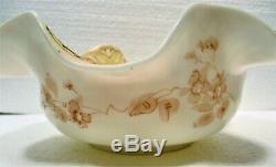 Ca. 1880's Uncommon Crown Milano Glass Style, Bride's Bowl, Mount Washington Or