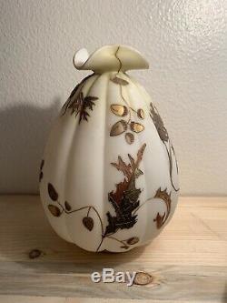 Crown Milano Victorian Melon Vase 1800s