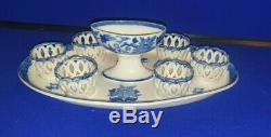 Early 19th Century Wedgwood Blue Pearlware Egg Frame C1830