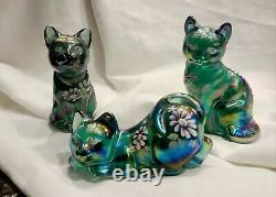FENTON CAT LOT OF 3 CATS EXTREMELY RARE LIMITED ADDITION ALL ARE of 1271 OF 1950