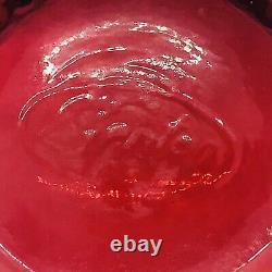 Fenton Cranberry 3 Piece Hobnail Fairy Lamp