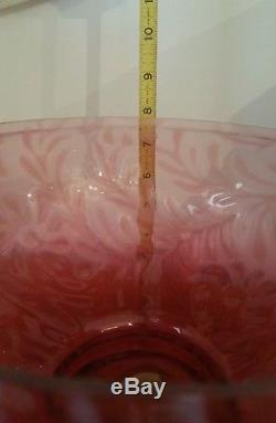 Fenton Cranberry Glass Daisy & Fern Pattern 10 Lamp Shade