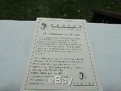 Fenton Cranberry Opalescent Coin Dot Connoisseur Collection 2003 #12/1750