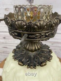 Fenton Custard Poppy GWTW Vintage Lamp