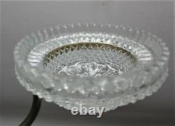 Fine Antique CLARK'S CRICKLITE Art Glass Candle Lamp c. 1900 candelabra