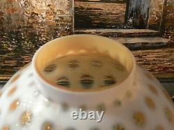 Huge GWTW Fenton Honeysuckle Opalescent Glass Coin dot Lamp Shade Ball Globe 10