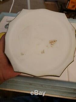 Large KELVA Hexagon Hinged Dresser BOX C. F. MONROE Wave Crest