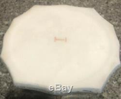 Large KELVA Hexagon Hinged TRINKET jewelry Dresser BOX C. F. MONROE Wave Crest