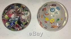 Lot of 4 Antique Victorian Glass Paperweights Hand Blown Art Glass