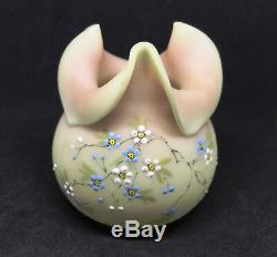 Mt Washington Decorated Burmese Tri-Con Vase